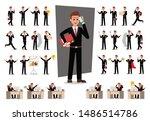 set of businessman character... | Shutterstock .eps vector #1486514786