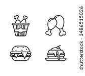 simple set of fast food related ... | Shutterstock .eps vector #1486515026