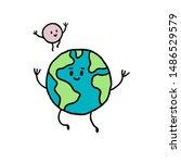 cartoon hand drawn illustration ... | Shutterstock .eps vector #1486529579