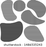 many thin straight lines form... | Shutterstock .eps vector #1486535243