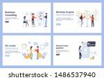 set flat concept vector modern...   Shutterstock .eps vector #1486537940