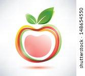 Red Apple Symbol  Vector Icon