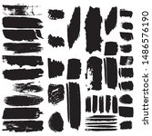 grunge brush dry. vector black... | Shutterstock .eps vector #1486576190