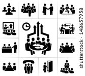 meeting icons | Shutterstock .eps vector #148657958
