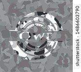 owe on grey camo texture | Shutterstock .eps vector #1486603790
