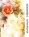 Beautiful orange grungy rose background