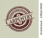red carpentry distress with... | Shutterstock .eps vector #1486613060