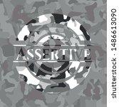 assertive on grey camouflaged... | Shutterstock .eps vector #1486613090
