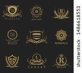 luxury logo bundle in vector... | Shutterstock .eps vector #1486618553