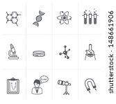 vector science icon set | Shutterstock .eps vector #148661906