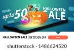halloween sale  modern... | Shutterstock .eps vector #1486624520