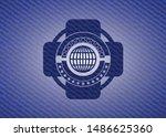 globe  website icon with denim... | Shutterstock .eps vector #1486625360