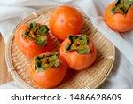 Ripe Orange Persimmon Fruit ...