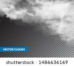 realistic clouds. isolated... | Shutterstock .eps vector #1486636169