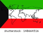 the flag of kuwait with the... | Shutterstock . vector #148664516
