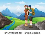 a vector illustration of couple ... | Shutterstock .eps vector #148665086
