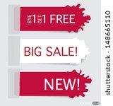 set of sticker labels. vector... | Shutterstock .eps vector #148665110