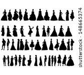 women silhouettes in various... | Shutterstock .eps vector #148665374