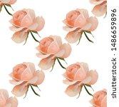 pink rose. vector illustration. ... | Shutterstock .eps vector #1486659896