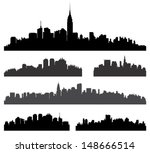 city silhouette vector set....