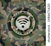 wifi signal icon inside... | Shutterstock .eps vector #1486671620