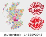 privacy scotland map and seals. ... | Shutterstock .eps vector #1486693043