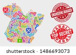 safety paral state map and... | Shutterstock .eps vector #1486693073