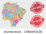 safety mato grosso do sul state ... | Shutterstock .eps vector #1486693100