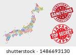 safeguard japan map and... | Shutterstock .eps vector #1486693130