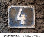 number 4  four  street number... | Shutterstock . vector #1486707413