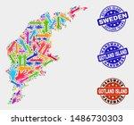vector handmade combination of... | Shutterstock .eps vector #1486730303