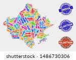 vector handmade collage of... | Shutterstock .eps vector #1486730306