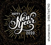 happy 2020 new year greeting... | Shutterstock .eps vector #1486764740