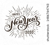 happy 2020 new year greeting... | Shutterstock .eps vector #1486764743