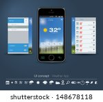 ui concept for weather app....