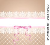 Garter Of Bride. Template For...