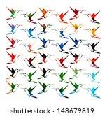 colorful hummingbirds vector... | Shutterstock .eps vector #148679819