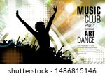 young happy people are dancing... | Shutterstock .eps vector #1486815146