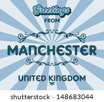 manchester united kingdom...   Shutterstock .eps vector #148683044