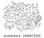 women's clothing collection.... | Shutterstock .eps vector #1486873220