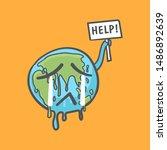 stop global warming  earth... | Shutterstock .eps vector #1486892639