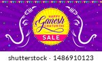 happy ganesh chaturthi sale.... | Shutterstock .eps vector #1486910123