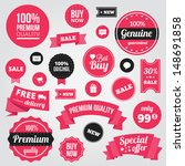 vector stylish labels badges... | Shutterstock .eps vector #148691858