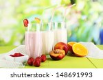 delicious milk shakes with... | Shutterstock . vector #148691993