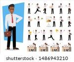 set of businessman character... | Shutterstock .eps vector #1486943210