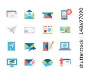 email icons | Shutterstock .eps vector #148697090