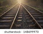 train tracks at sunset | Shutterstock . vector #148699970