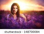 beauty girl portrait. sensual... | Shutterstock . vector #148700084
