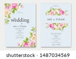 beautiful floral wedding...   Shutterstock .eps vector #1487034569