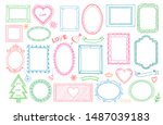 big set of colorful hand drawn... | Shutterstock . vector #1487039183